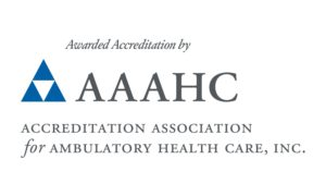 Logo AAAHC - Acronym and long form color